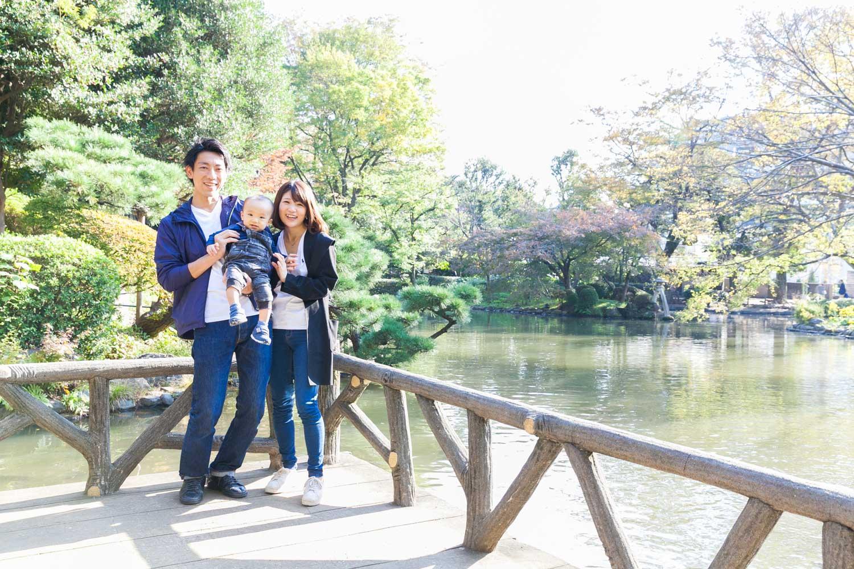 有栖川記念公園 家族写真