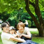 庭園美術館 家族写真