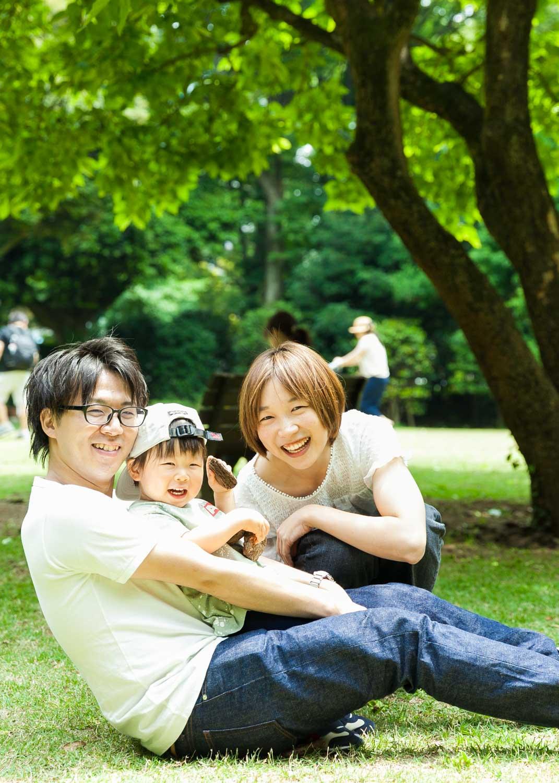家族写真 庭園美術館