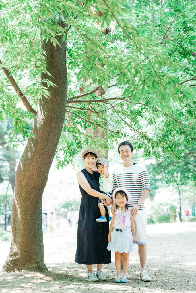 家族写真 公園