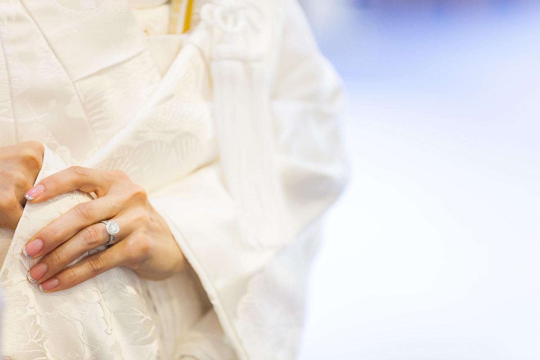 結婚式 指輪 白無垢