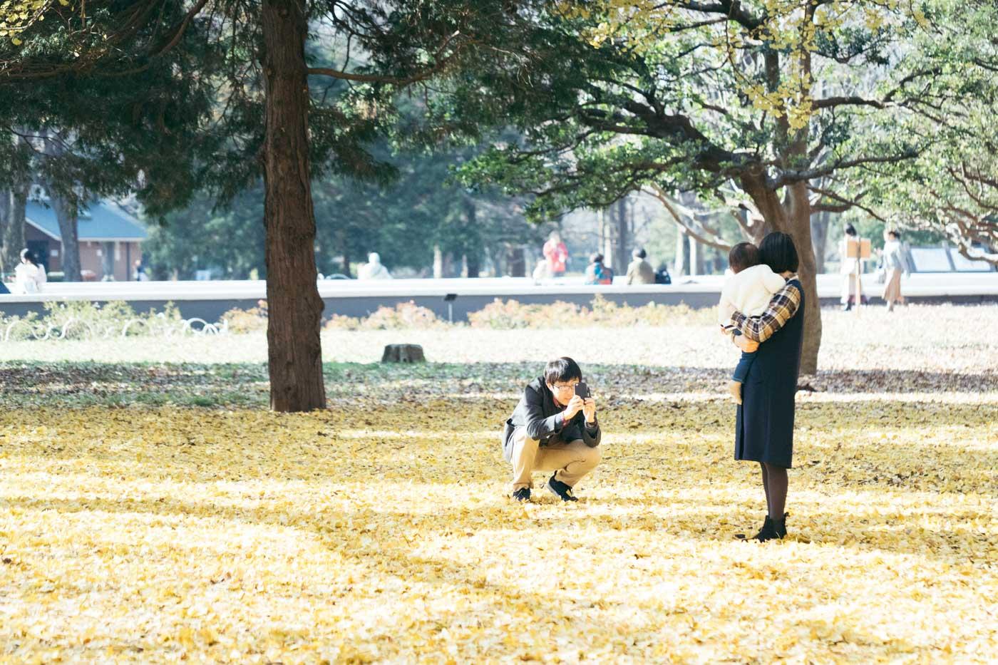 家族写真 代々木公園