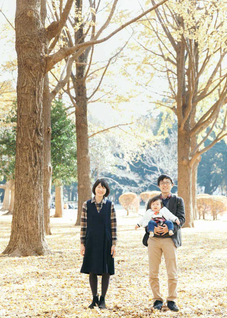 家族写真 代々木公園 撮影